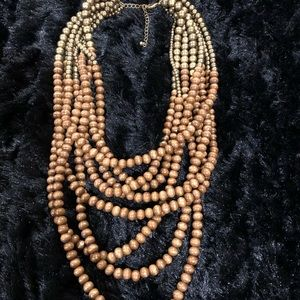 Evereve bronze and brown multi strand necklace